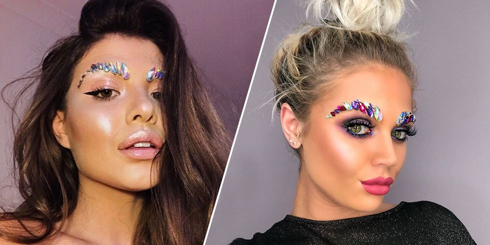 Jeweled eyebrows de nieuwste bizarre beauty trend.......