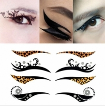 Tijdelijke eye make-up tattoo's