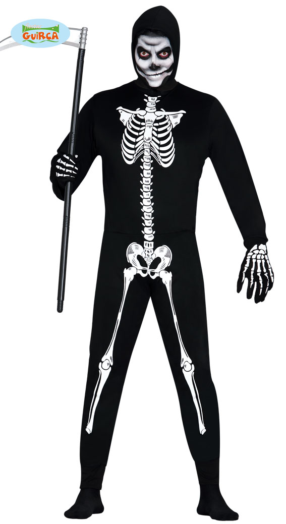 85da97b4f94 SKELET KOSTUUM HEREN MET JUMPSUIT, HALLOWEEN, SKELETON
