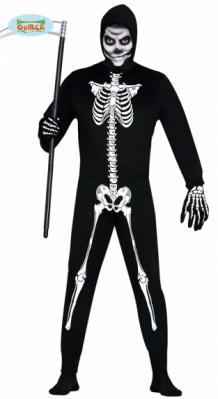 Skelet Voor Halloween.Skelet Kostuum Heren Met Jumpsuit Halloween Skeleton